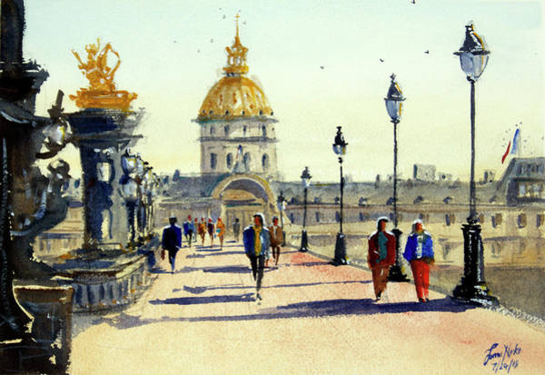 Wall Art - Painting - Pont Alexandre, Paris by James Nyika