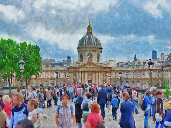 Digital Art - Pont Des Arts Bridge And The Institut De France  by Digital Photographic Arts