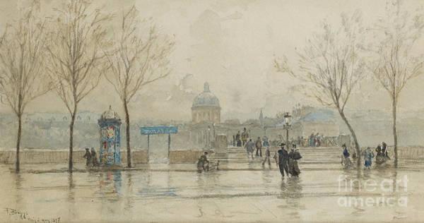 1897 Painting - Pont Des Arts, Paris, 6th March 1897 by Frank Myers Boggs
