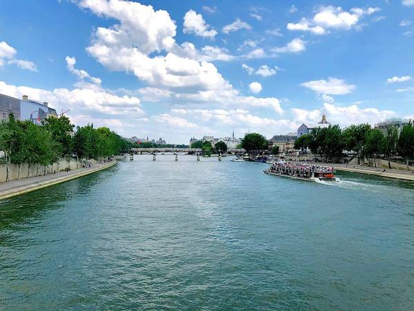 River Seine At Pont Du Carrousel Art Print