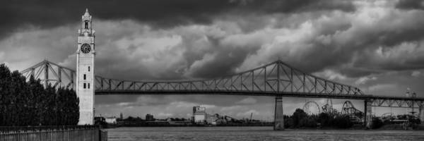Photograph - Pont Jacques-cartier 001 Bw by Lance Vaughn