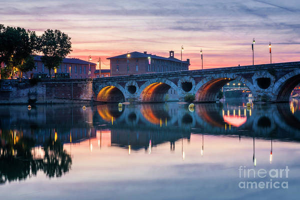 Photograph - Pont Neuf In Toulouse At Sunset by Elena Elisseeva