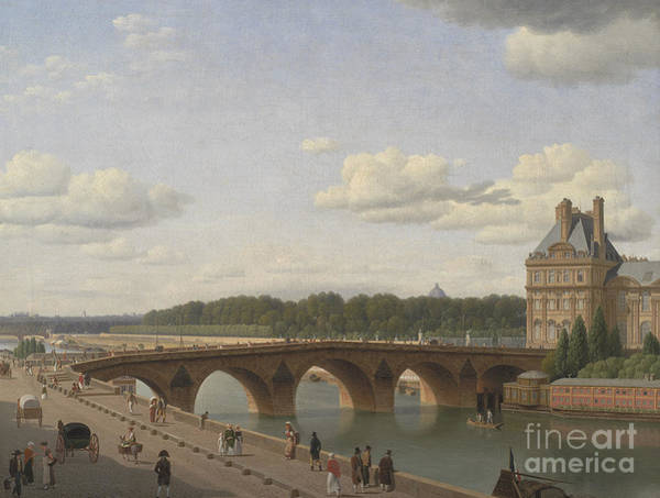 Wall Art - Painting - Pont Royal Seen From Quai Voltaire, 1812 by Christoffer-Wilhelm Eckersberg