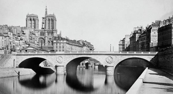 Photograph - Pont Saint Michel Paris 1859 by Andrew Fare