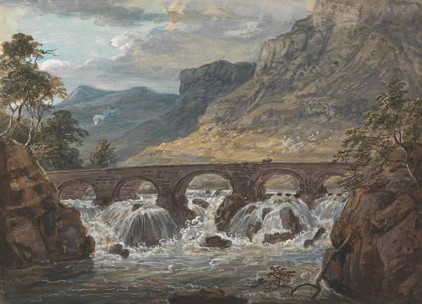 Painting - Pont-y-pier Near Llanroost, Denbighshire by Paul Sandby