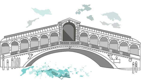 Digital Art - Ponte Di Rialto In Venice by Marina Usmanskaya
