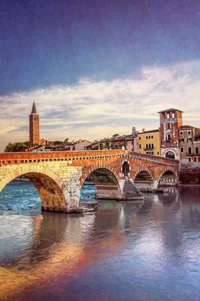 Northern Italy Photograph - Ponte Pietra Verona Italy  by Carol Japp