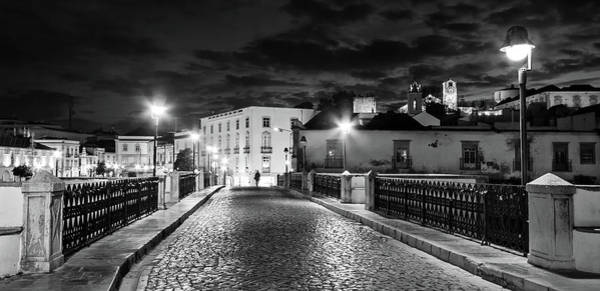 Photograph - Ponte Romana At Night - Tavira, Portugal by Barry O Carroll