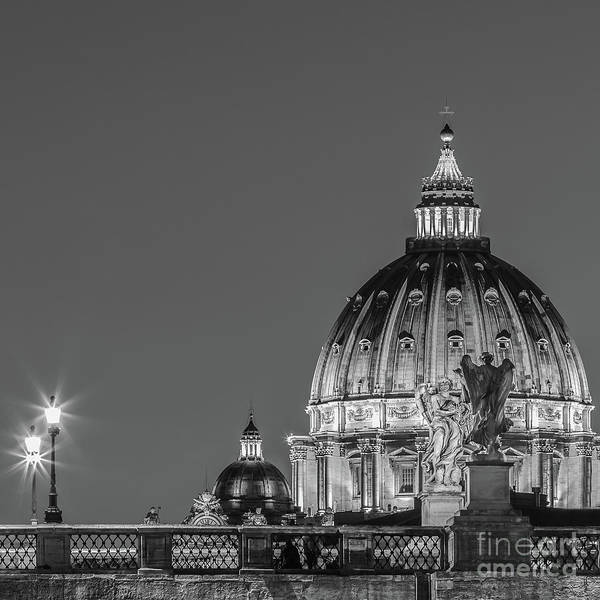 Saint Peters Square Photograph - Ponte Sant Angelo And St. Peter's Basilica 2 by Henk Meijer Photography