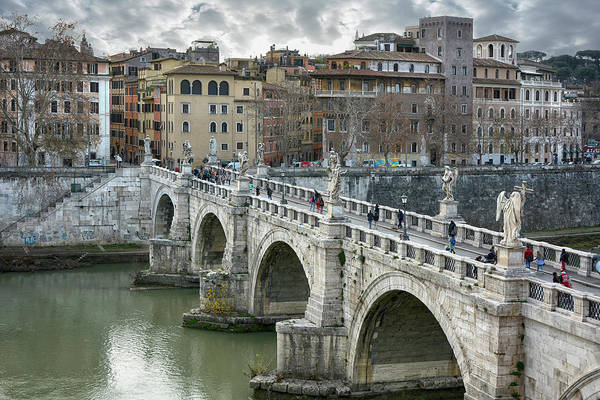 Wall Art - Photograph - Ponte Sant Angelo Rome by Joachim G Pinkawa