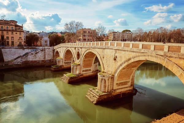 Photograph - Ponte Sisto Rome Italy by Joan Carroll