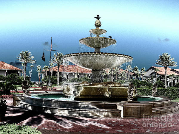 Photograph - Ponte Vedra Fountain by Dale Powell