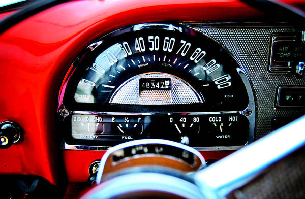 Photograph - Pontiac Chieftain 1954 Dash by Nathan Little