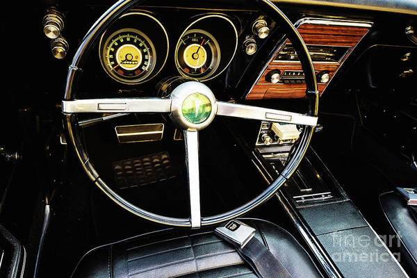 Photograph - Pontiac Dashboard by M G Whittingham
