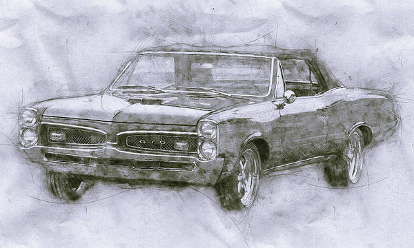 Wall Art - Mixed Media - Pontiac Gto 4 - 1967 - Automotive Art - Car Posters by Studio Grafiikka
