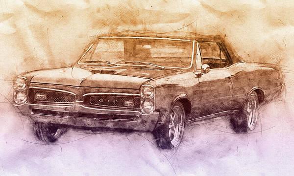 Wall Art - Mixed Media - Pontiac Gto 6 - 1967 - Automotive Art - Car Posters by Studio Grafiikka