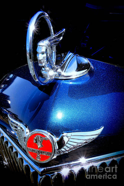 Wall Art - Photograph - Pontiac Indianhead Hood Ornament  by Olivier Le Queinec