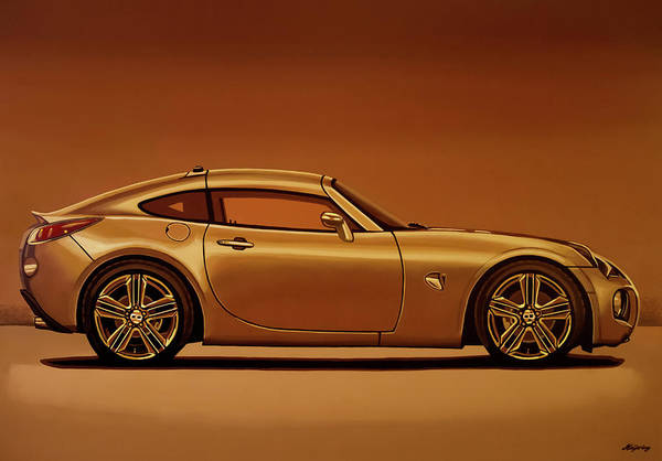 Wall Art - Painting - Pontiac Solstice Coupe 2009 Painting by Paul Meijering