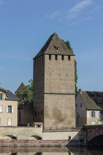 River Ill Wall Art - Photograph - Ponts Couverts Tower Strasbourg France by Teresa Mucha