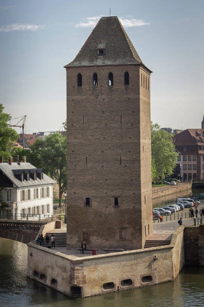 River Ill Wall Art - Photograph - Ponts Couverts Tower by Teresa Mucha