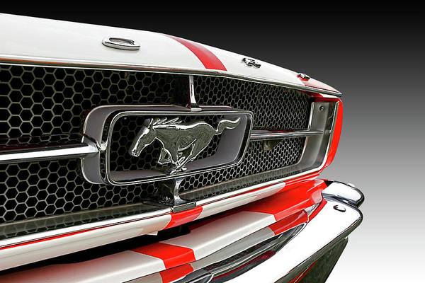 Photograph - Pony Car Grille by Gill Billington