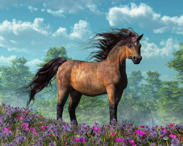 Digital Art - Pony by Daniel Eskridge