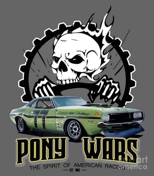 Wall Art - Digital Art - Pony Wars by Paul Kuras