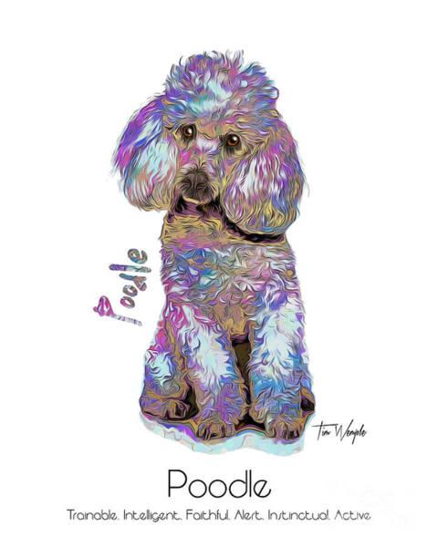 Digital Art - Poodle Pop Art by Tim Wemple