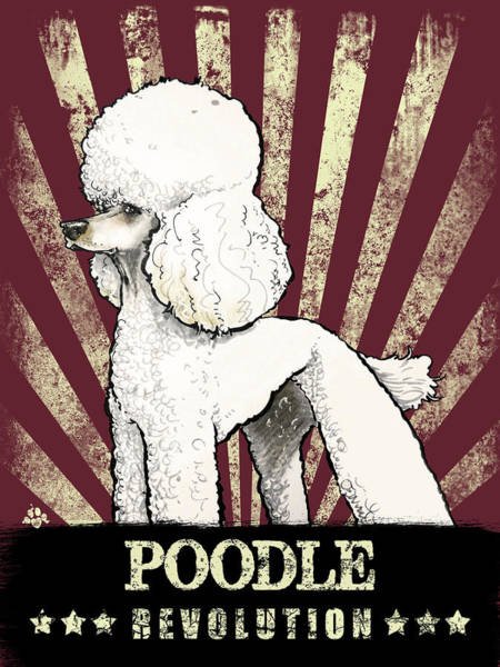 Poodle Wall Art - Drawing - Poodle Revolution by John LaFree