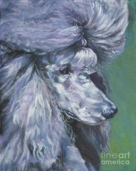 Poodle Wall Art - Painting - Poodle Silver by Lee Ann Shepard