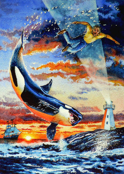 Killer Whales Wall Art - Painting - Pooka Hill 12 by Hanne Lore Koehler