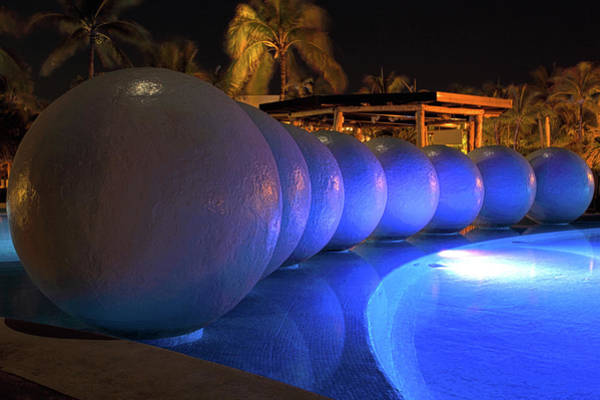Photograph - Pool Balls At Night by Shane Bechler