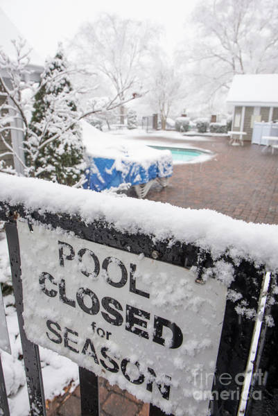 Photograph - Pool Closed For Season by Kevin McCarthy
