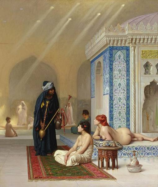 Orientalist Painting - Pool In A Harem by Jean Leon Gerome