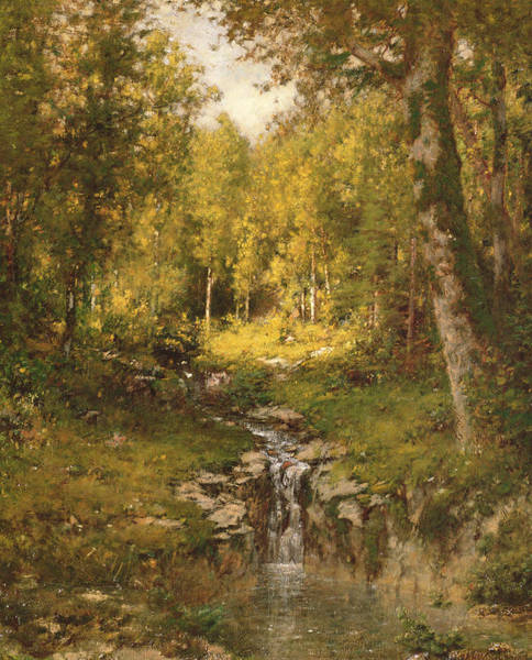 Pool Painting - Pool In The Woods by Alexander Helwig  Wyant