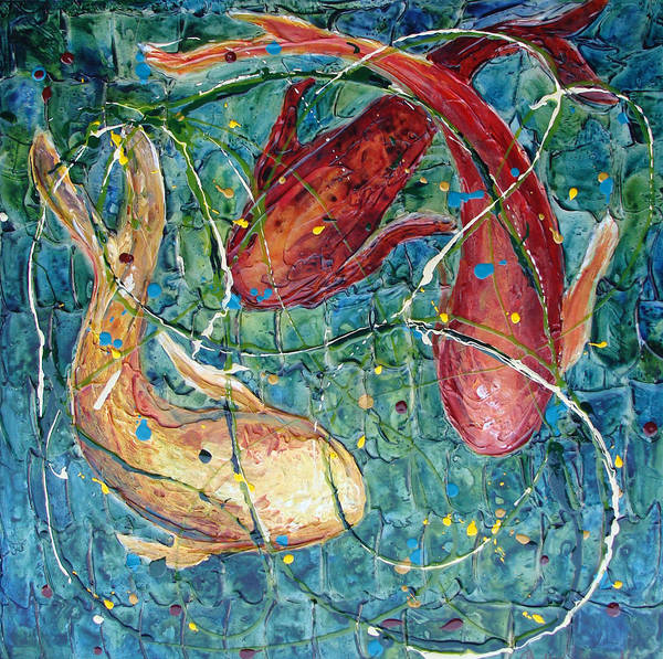 Mixed Media - Pool Party by Phyllis Howard
