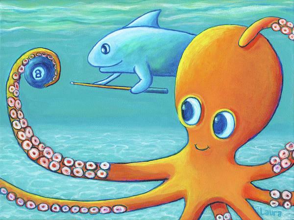 Wall Art - Painting - Pool Shark by Laura Zoellner