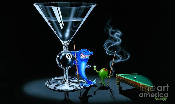8 Wall Art - Painting - Pool Shark by Michael Godard