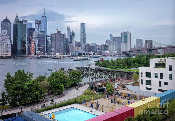 Photograph - Pool With A View, Brooklyn, New York #130706 by John Bald