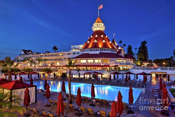 Photograph - Poolside At The Hotel Del Coronado  by Sam Antonio Photography