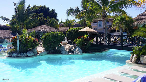Puerto Plata Photograph - Poolside by Kathy Kelly