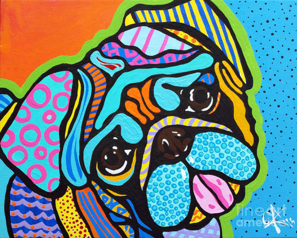 Lucky Charm Painting - Pooped Pup by Jackie Carpenter