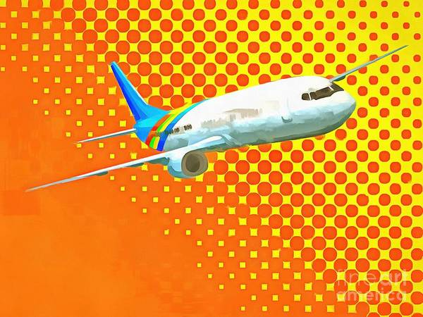 Digital Art - Pop Art Airplane by Edward Fielding