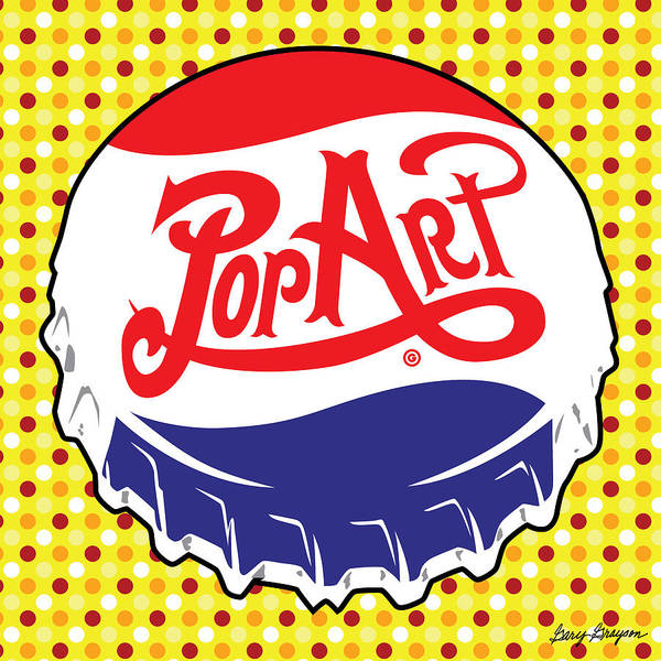 Painting - Pop Art Bottle Cap by Gary Grayson