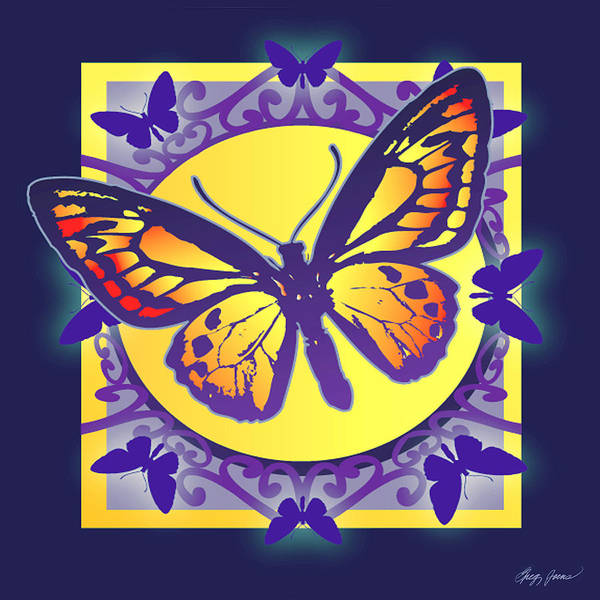 Insect Digital Art - Pop Art Butterfly by Greg Joens