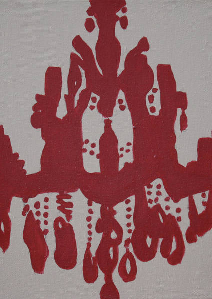 Wall Art - Painting - Pop Art Chanderlier Paintings-red by Mikayla Ziegler