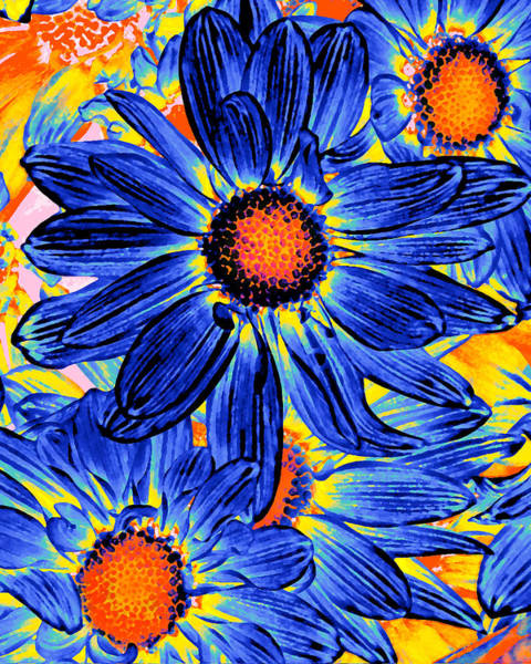 Wall Art - Painting - Pop Art Daisies 19 by Amy Vangsgard