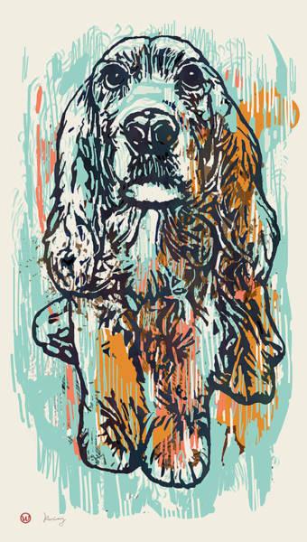 Carnivorous Drawing - Pop Art Etching Poster - Dog   by Kim Wang