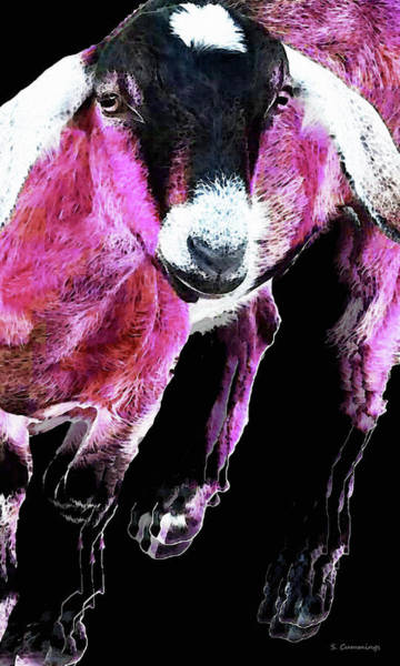 Painting - Pop Art Goat - Pink - Sharon Cummings by Sharon Cummings