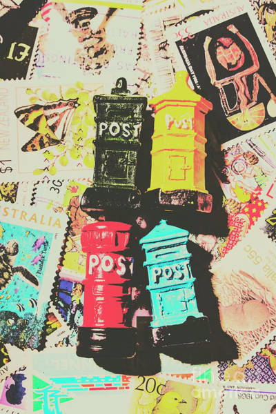 Stamp Collecting Photograph - Pop Art In Post by Jorgo Photography - Wall Art Gallery